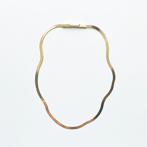 Saskia Diez/FLUID NECKLACE SHORT 925 AG, GOLD PLATED