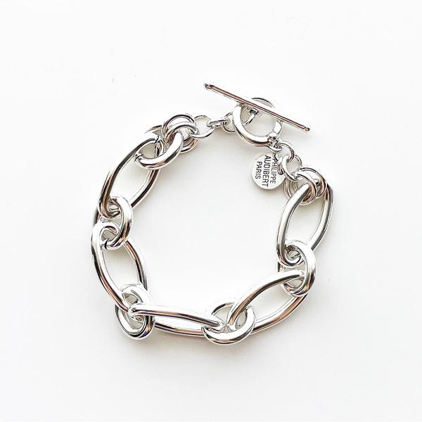 【再入荷】 PHILIPPE AUDIBERT/Isaia bracelet Large brass silver color,