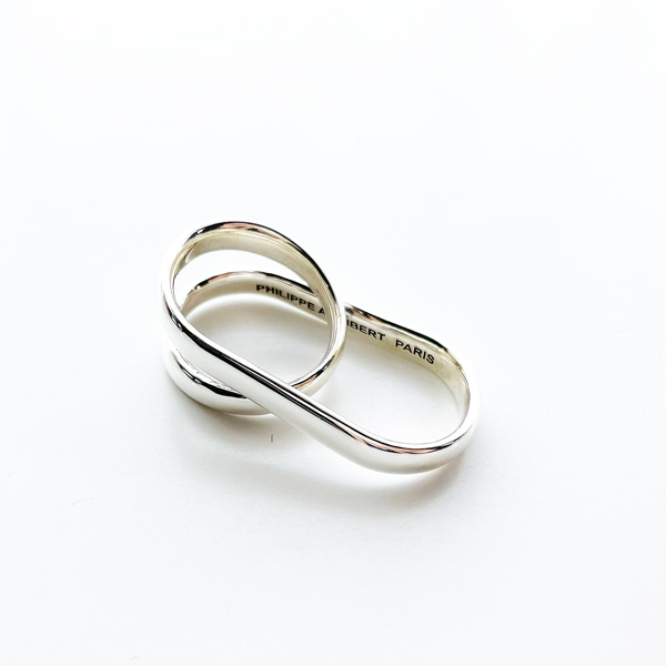 PHILIPPE AUDIBERT/Bena double ring brass silver color,