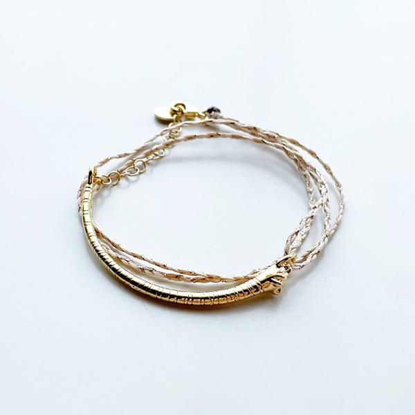 Louise Hendricks/Bracelet Tina tresse tigre