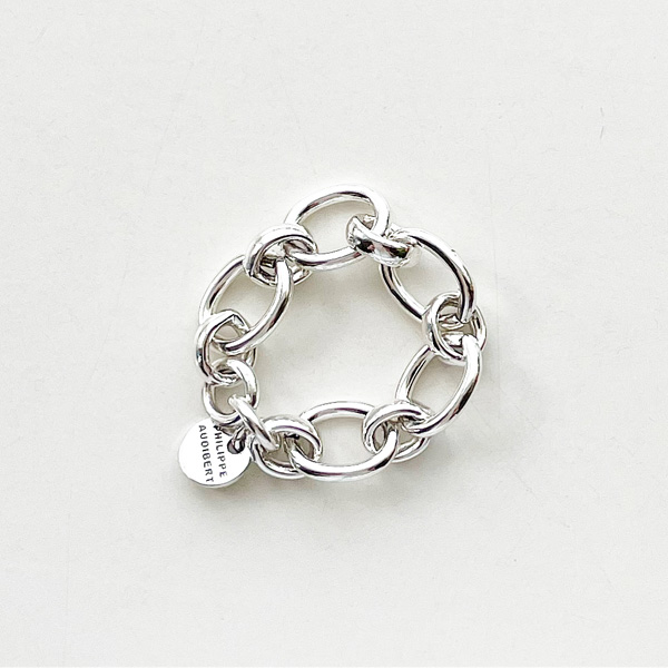 PHILIPPE AUDIBERT/Marcus ring size 53 brass in silver color,