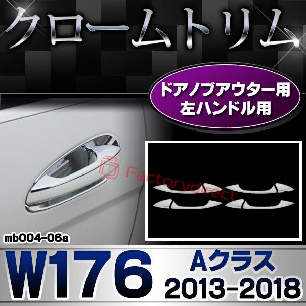 ri-mb004-06(106-06-4D) ドアハンドル(左ハンドル用) Aクラス W176(2013以降 H25以降)MercedesBenz メルセデスベンツ クロームメッキランプトリム ガーニッシュ カバー ( 自動車 用品 くるま メルセデス・ベンツ)