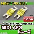 ap-midi100a MIDIヒューズ AFSヒューズ 100A x2個 カーオーディオDIYユーザーに最適