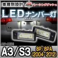 LL-AU-AX01 A3 S3(8P 8PA 2004-2012) 5605133W LEDナンバー灯 LEDライセンスランプ AUDI アウディ レーシングダッシュ製