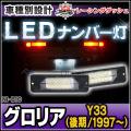 LL-NI-B10 GLORIA グロリア(Y33後期:1997 06up) 5605007W 日産 NISSAN LEDナンバー灯 ライセンスランプ) レーシングダッシュ製