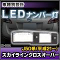 LL-NI-D02 LEDナンバー灯 スカイラインクロスオーバー(J50系 2009.07以降 H21.07以降)ライセンスランプ NISSAN ニッサン 日産 自社企画商品