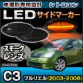 LL-PE-SMA23 スモークレンズ  Citroen シトロエン C3 Pluriel プルリエル(2003-2008)LEDサイドマーカー ウインカーランプ プジョーシトロエン