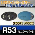 LM-BMMI04C ■BMW MINI COOPER S/ミニクーパーS(R53/2002-2008)■LEDウインカードアミラーレンズ・ブルードアミラーレンズ