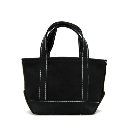 トートバック 帆布×帆布 S ブラック×ブラック(白糸)