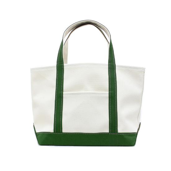 トートバック 帆布×帆布 L キナリ×グリーン