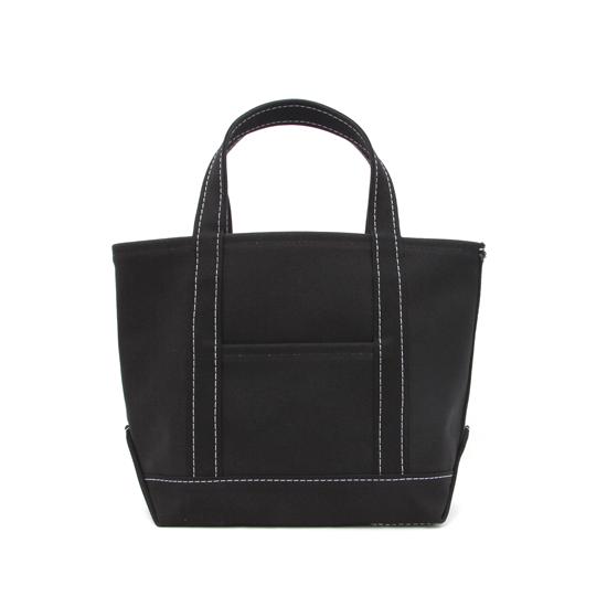 トートバック|帆布×帆布|M|ブラック×ブラック(白糸)