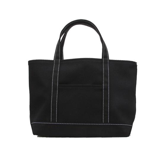 トートバック|帆布×帆布|L|ブラック×ブラック(白糸)