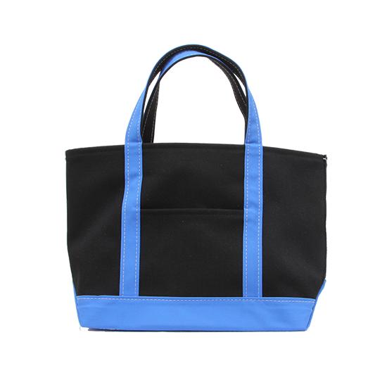 トートバック|帆布×帆布|L|ブラック×ブルー