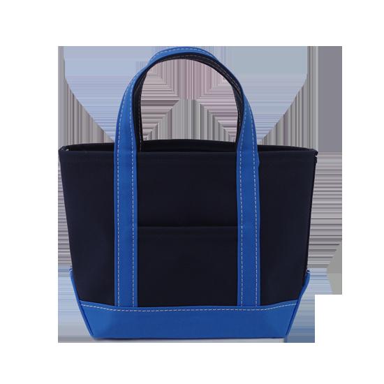 トートバッグ M×キャンバス|ネイビー x ブルー