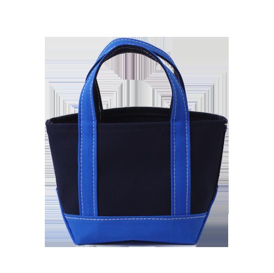 トートバッグ S×キャンバス|ネイビー x ブルー