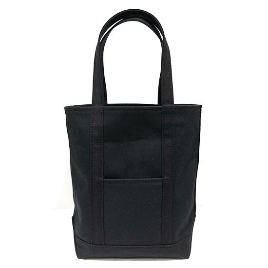 トートバッグ M タテ型×キャンバス|ブラック x ブラック(黒糸)