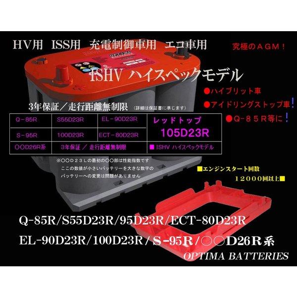 オプティマバッテリー レッドトップ 925S-R+ハイトアダプター ○○D23R ○○D26R Q-85R S-95R 互換