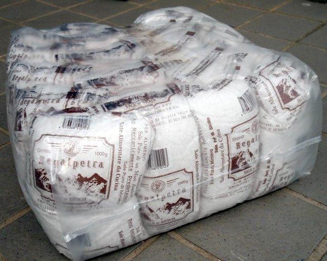 Regalpetra Grosso レガルペトラ イタリア シチリア島産 岩塩 【粗粒状】 19kg(1kgx19) シチリア島の天然の岩塩鉱から採掘された塩【直輸入】業務用 ロックソルト