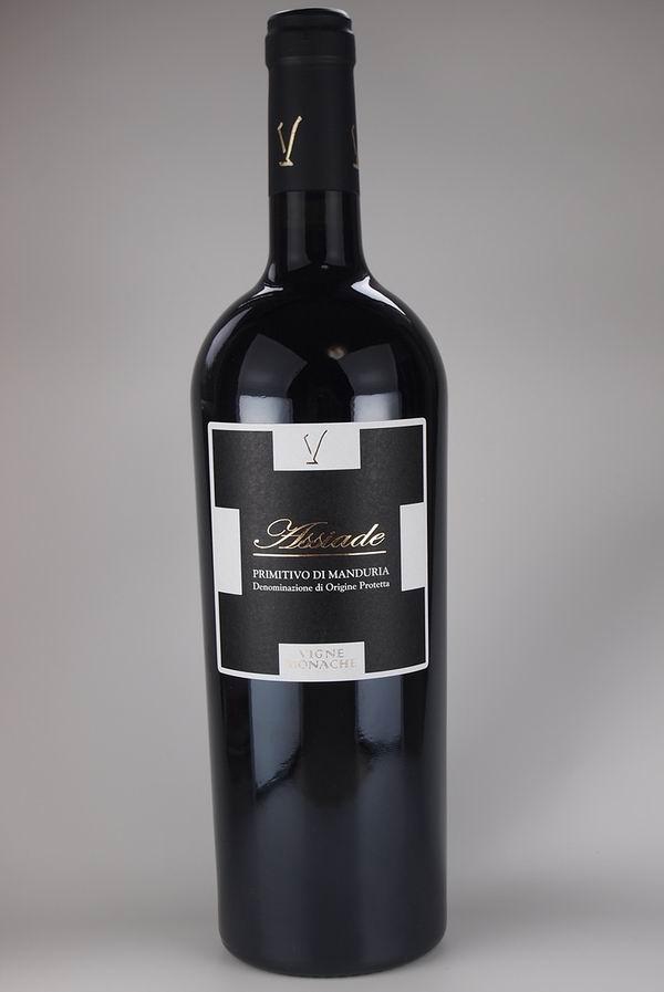 【レストラン飲食店向】イタリア プーリア 直輸入 赤ワイン 【Assiade】 6本入/ケース 2015年  100%PRIMITIVO DI MANDURIA DOP プリミティーヴォ 750ml 15.5%