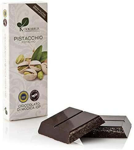 チョカッルーア モディカ チョコレート ピスタチオ (100g) [イタリア シチリア]   CIOKARRUA MODICA CHOCOLATE IGP