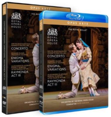 英国ロイヤル・バレエ・トリプルビル「コンチェルト」 「エニグマ・ヴァリエーションズ」 「ライモンダ 第3幕」(直輸入DVD)