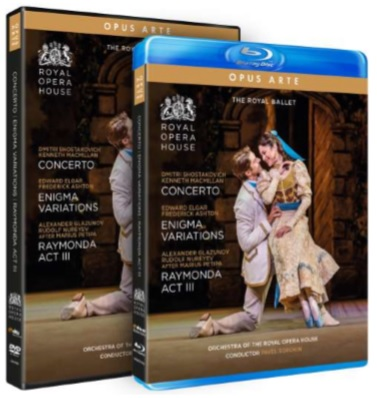 【OpusArte&BelAirフェア】英国ロイヤル・バレエ・トリプルビル「コンチェルト」 「エニグマ・ヴァリエーションズ」 「ライモンダ 第3幕」(直輸入DVD)