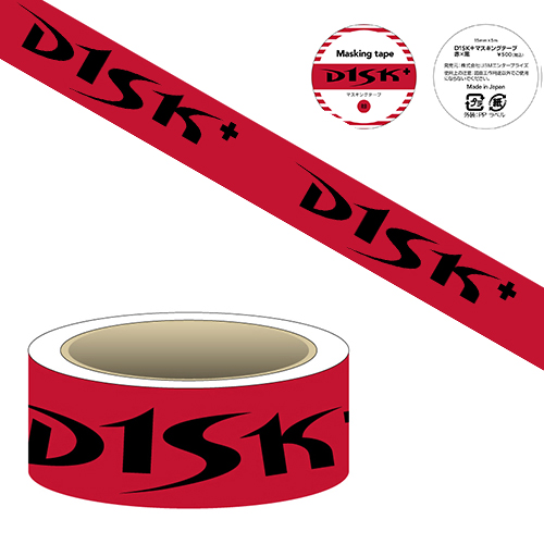 高橋大輔オフィシャルグッズ D1SK+マスキングテープ(赤×黒)
