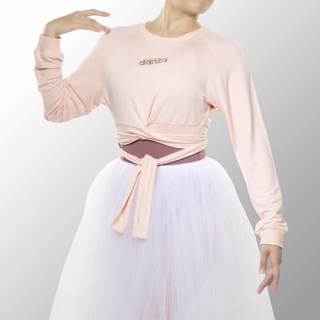 〈danza ダンツァ〉51222-4026 ハーフ丈ロングスリーブトップス