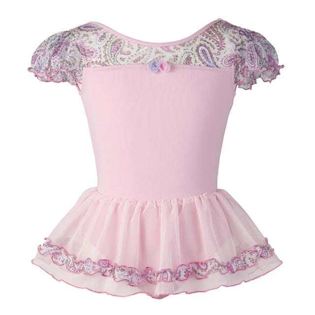【SALE】884551〈ピィー・カブ〉ペイズリー柄スカート付きレオタード