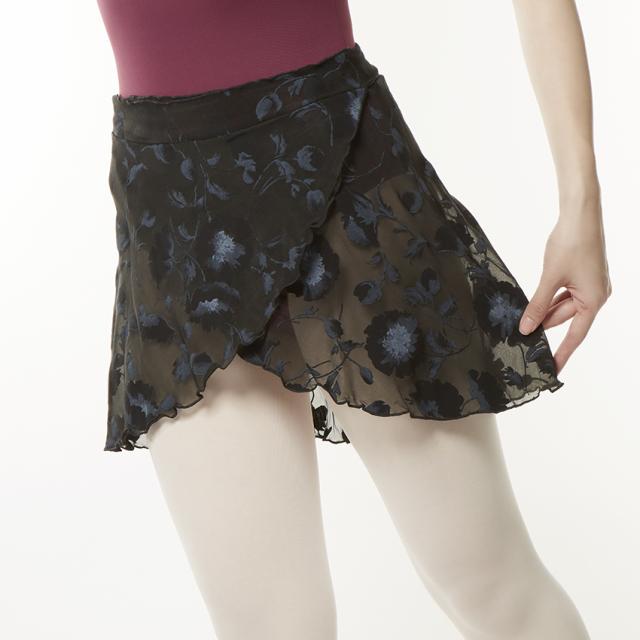 Juli Garden〈ユリ・ガーデン〉Lilu 巻きスカート/ブラックポピー  (リル)