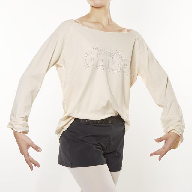 【SALE】〈danza ダンツァ〉28222-4160 ラメロゴロングTシャツ