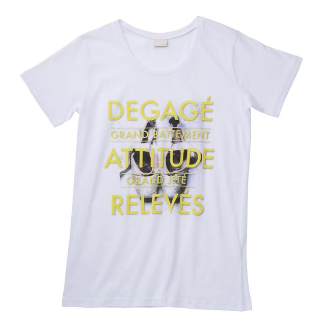 〈danza ダンツァ〉45222-4108 トウシューズプリントTシャツ