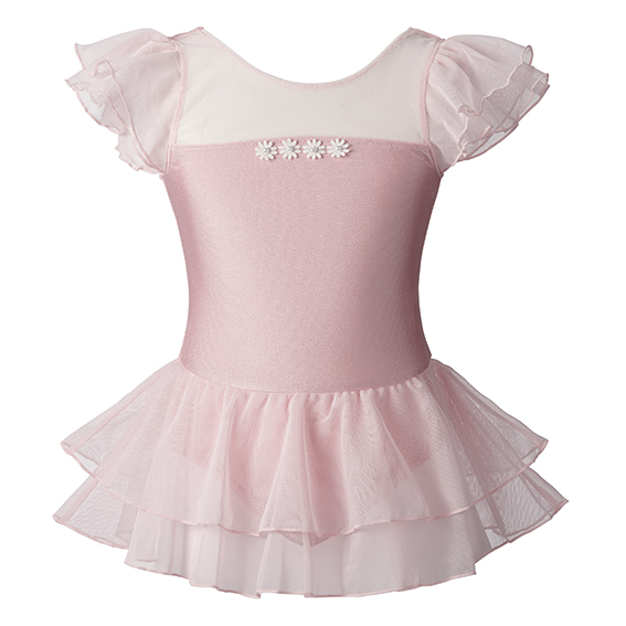 【SALE】884388ピィー・カブ チュールスカート付きサテンレオタード(S、M、Lサイズ)