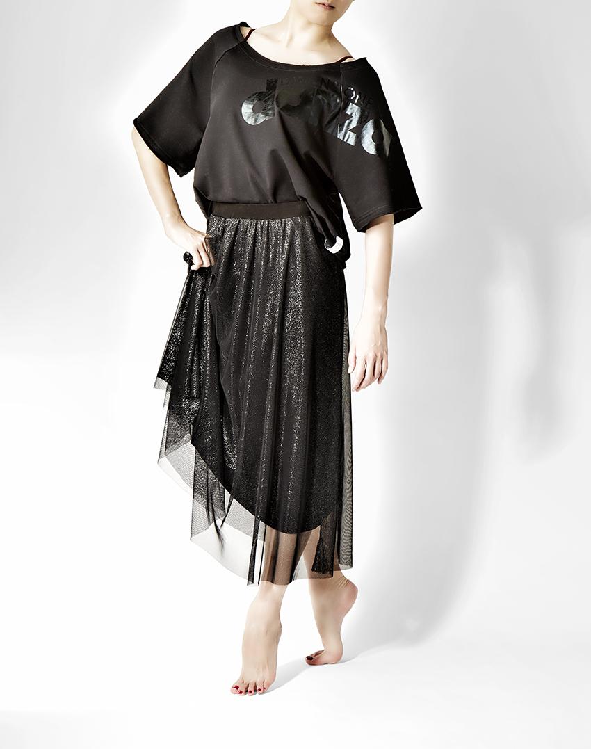 【SALE】〈danza ダンツァ〉48222-2051 ラメチュールロングスカート