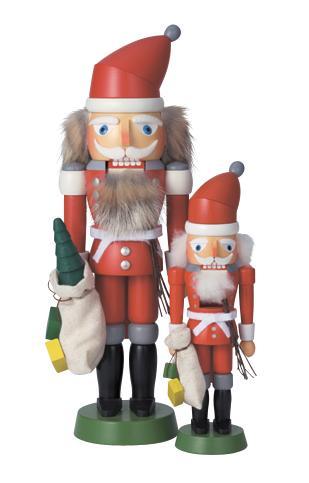 サンタクロース くるみ割り人形(ミニサイズ・22cm)