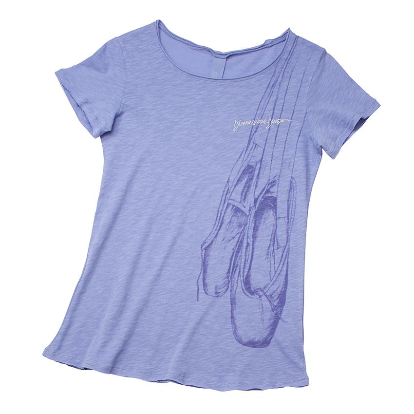 【SALE】〈danza ダンツァ〉49222-4017 トウシューズプリントTシャツ