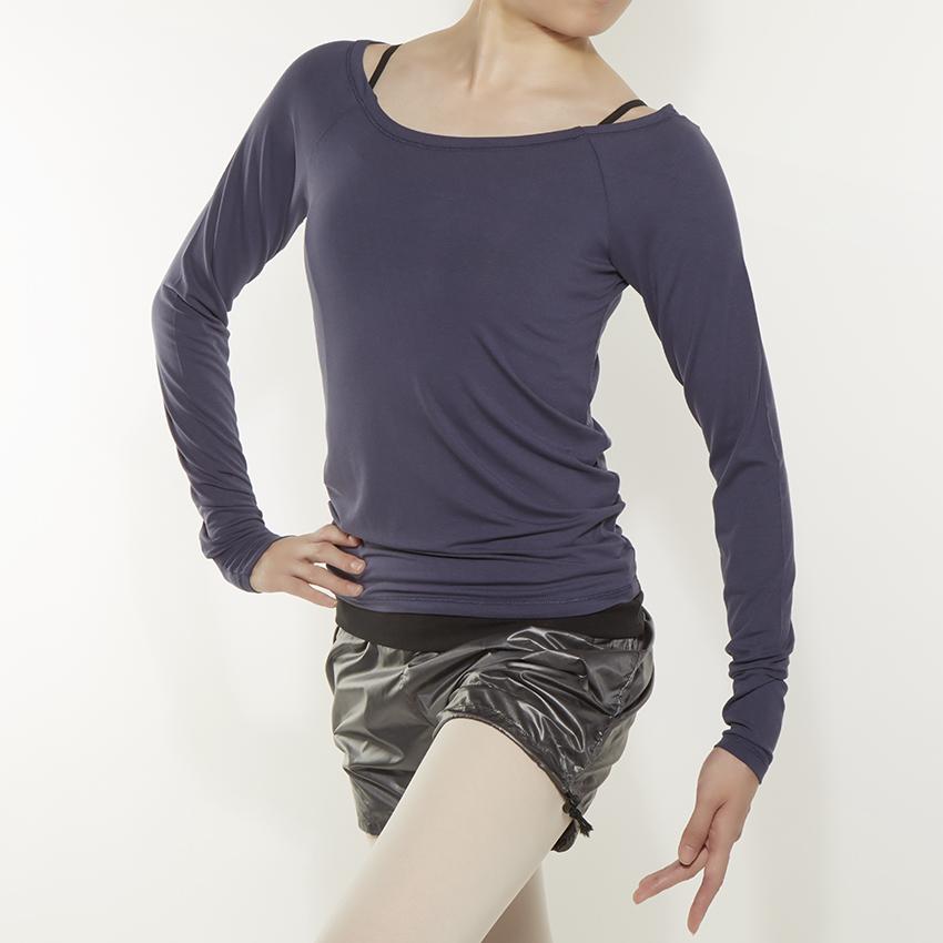 〈レペット〉W0638 バレリーナネックロングTシャツ