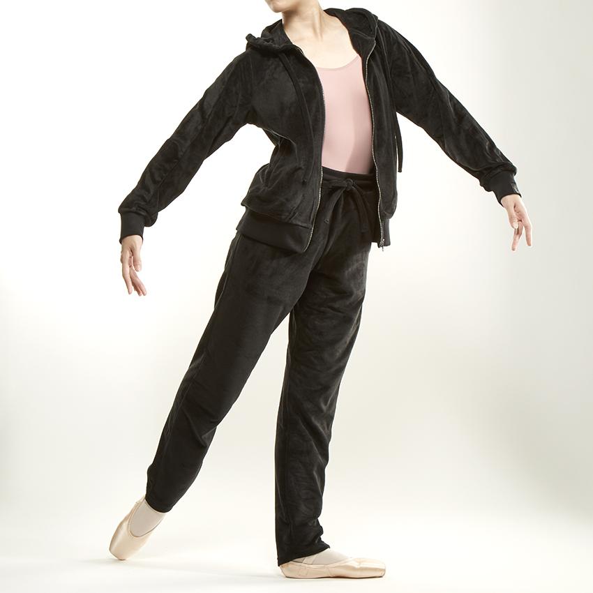 〈danza ダンツァ〉50222-4053 ベロアパーカー