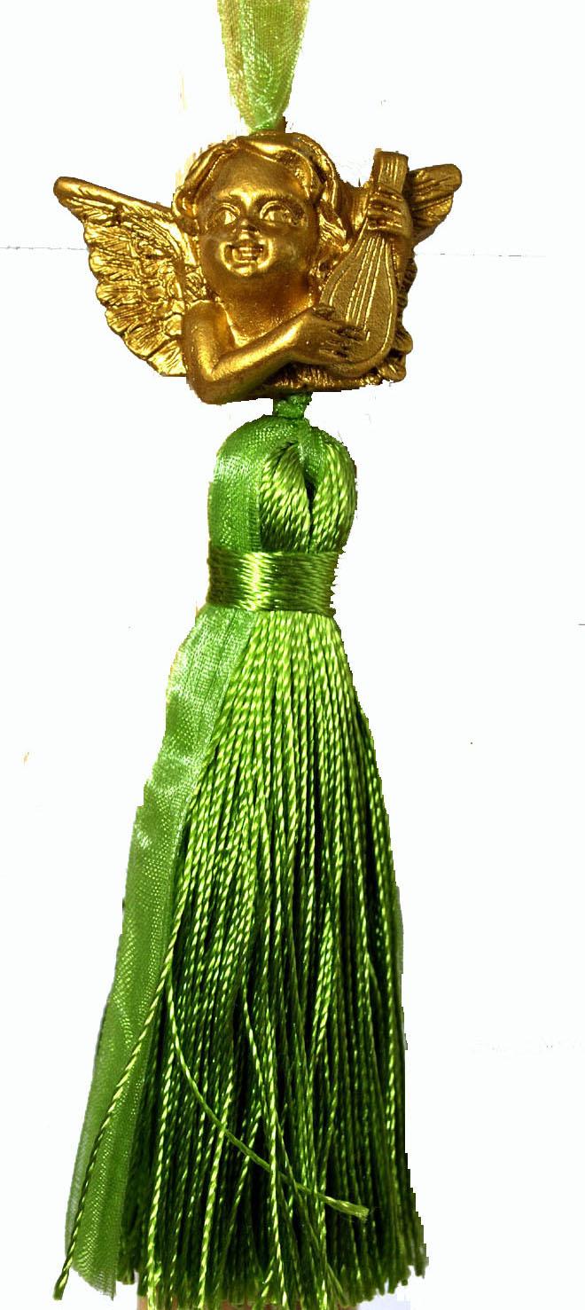 エンジェルのタッセルピスタチオグリーン・・フランス製