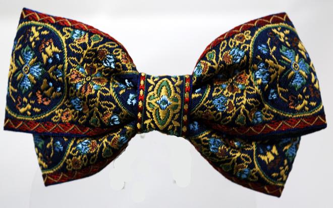 可愛い柄のフランス製リボンで作ったヘアバレッタです・ファミーユオリジナル