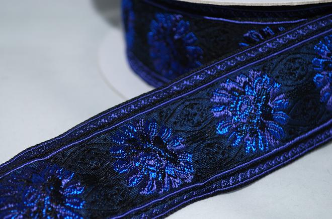 お花が浮き上がった織が素敵なフランスリボン 4カラー【メール便可】