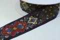 古典柄の正統派ジャカード織りのリボンです(4カラー)