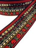 数種類のお花が連なるお花畑のような巾太ジュリアンフォール社のジャガード織リボン