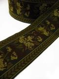 ミニ薔薇が連続した高級感漂うジュリアンフォール社のジャガード織リボン(2カラー)