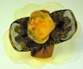 フランス製リボンで作ったオシャレなコサージュです