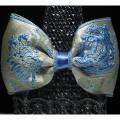 バラが素敵な高級フランス製リボンで作ったヘアゴムです・ファミーユオリジナル【メール便可】