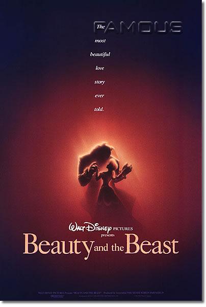 【映画ポスター】 美女と野獣 (ディズニー/BEAUTY AND THE BEAST) ADV-両面★レア★ オリジナルポスター