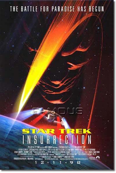 【映画ポスター】 スタートレック 叛乱 (STAR TREK INSURRECTION) 両面★ルアフォ★ オリジナルポスター