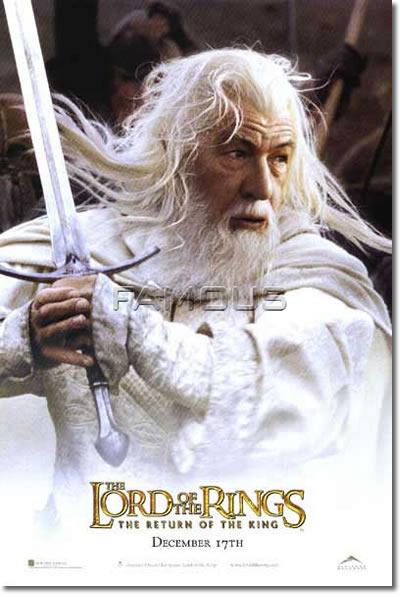 【映画ポスター】 ロードオブザリング 王の帰還 Gandalf ADV-両面 オリジナルポスター