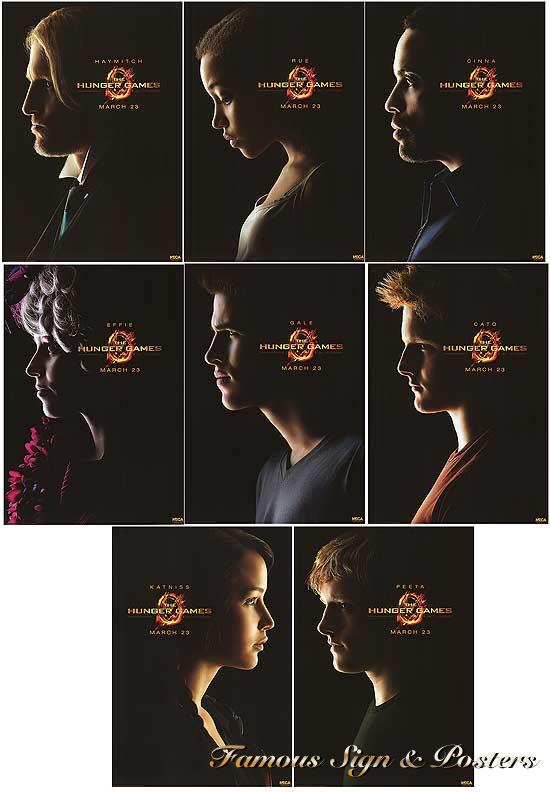 【映画ポスター】 ハンガーゲーム (ジェニファーローレンス/THE HUNGER GAMES) ★数量限定(証明書付き)8枚セット★ オリジナルポスター